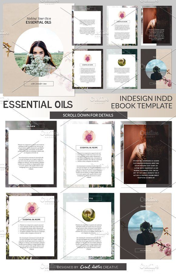 Essential Oils Indd Ebook Template By Coral Antler Creative On