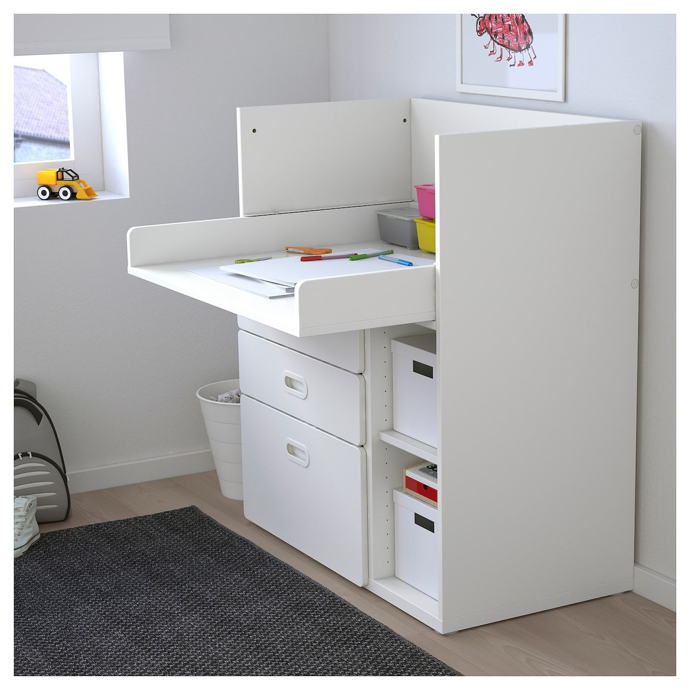 Table A Langer Escalier stuva / fritids changing table with drawers - white, white