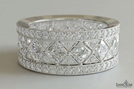 Custom Fine Jewellery Design New Zealand Diamond Wedding Band Or Eternity Ring Vintage Art Art Deco Engagement Ring Deco Engagement Ring Diamond Wedding Bands