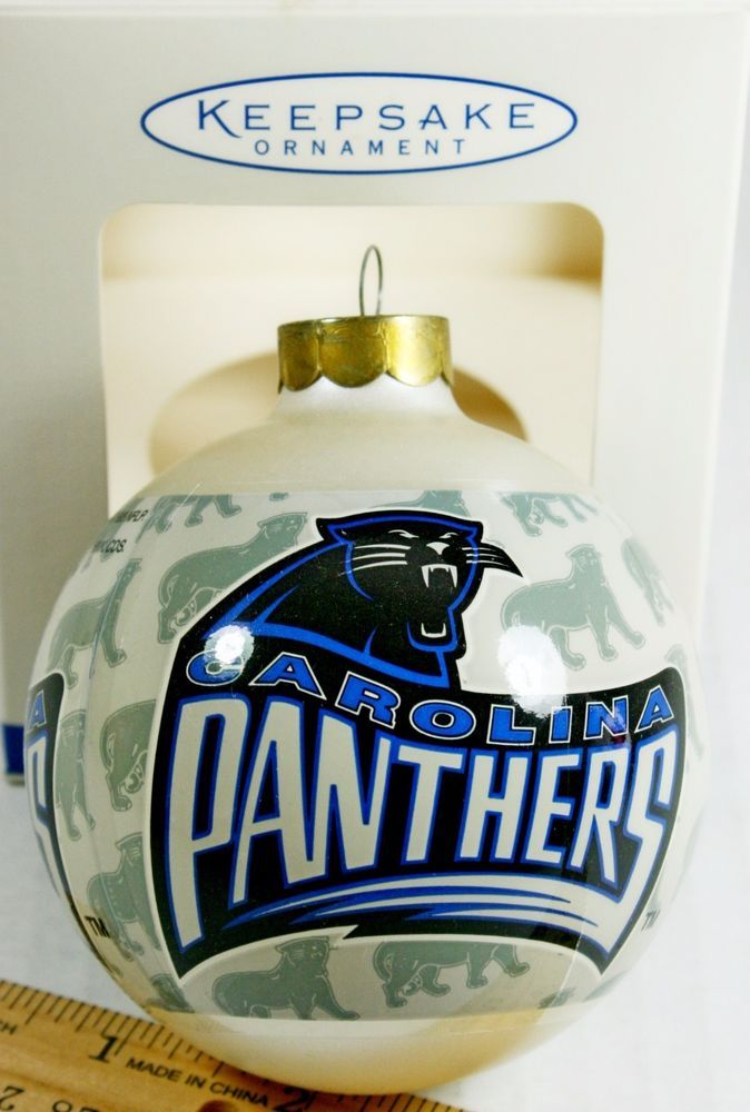 NFL Carolina Panthers Football Team Logo Hallmark Christmas Tree ...