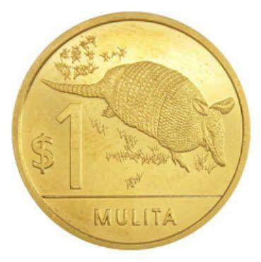 1 Peso Mulita Urugaya Cortesia De Monedas De La Republica