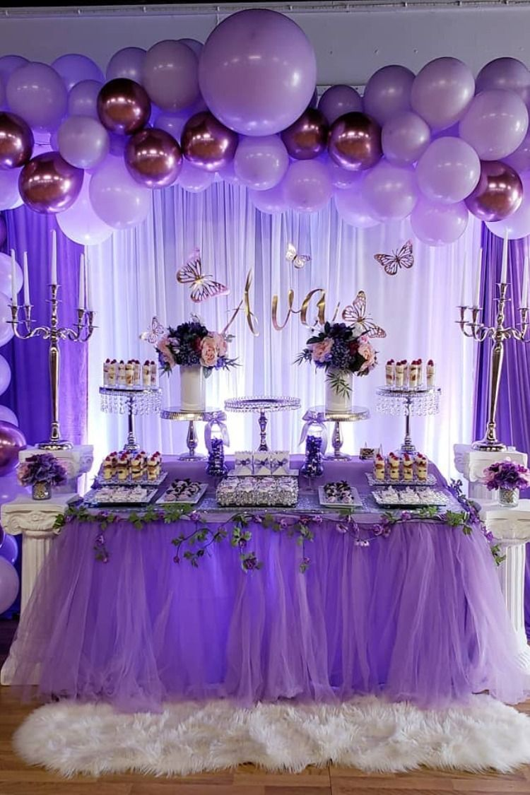 Purple Butterfly Quinceanera Ideas #quinceaneraparty