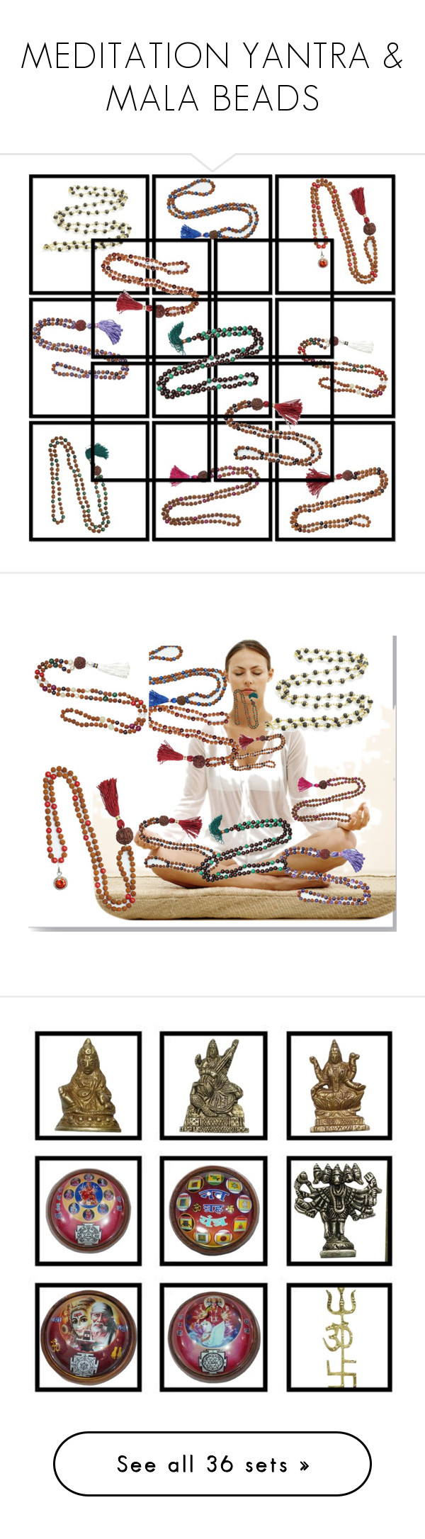 """""""MEDITATION YANTRA & MALA BEADS"""" by lavanyas-trendzs ❤ liked on Polyvore featuring necklace, meditation, Mala, indiatrendzs, yogamala, interior, interiors, interior design, home and home decor"""