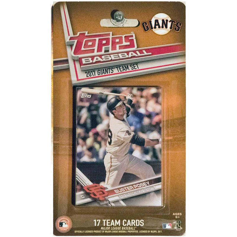 San Francisco Giants 2016/17 Team Set Baseball Trading Cards