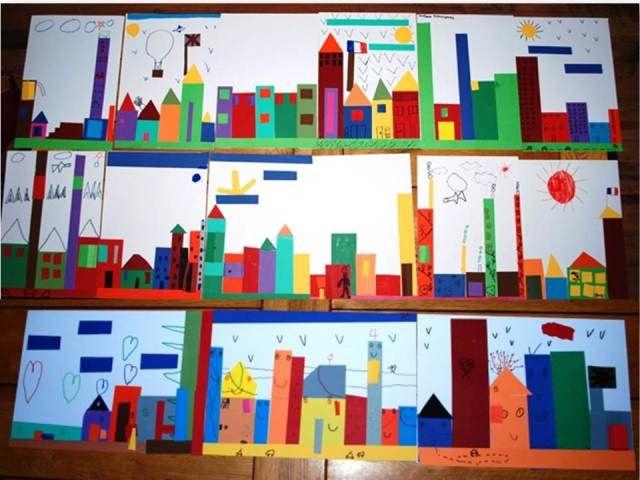 Art un paysage de ville d 39 apr s l 39 album et toute la ville for Paysage de ville