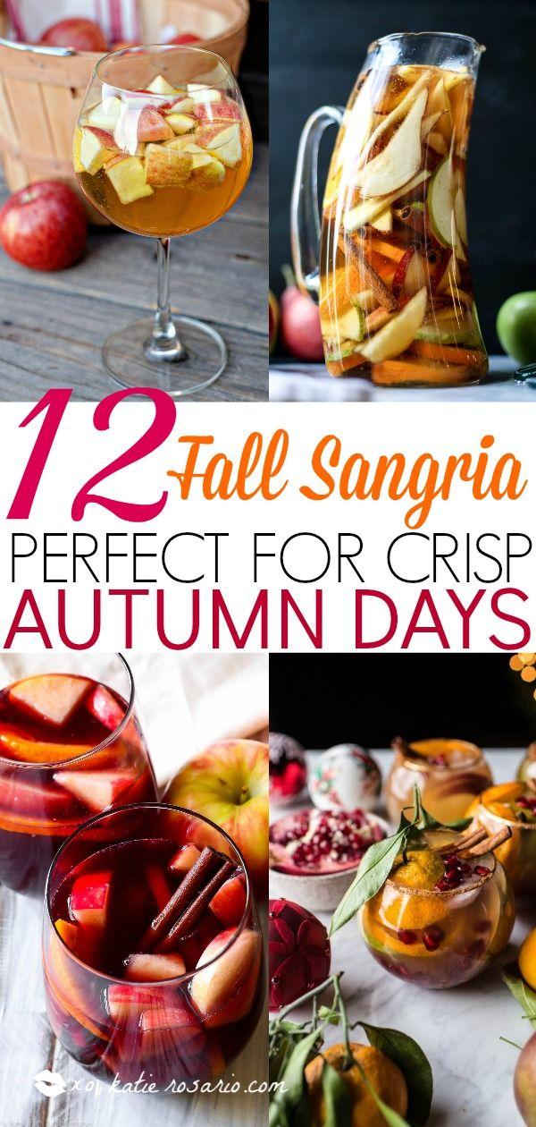 12 Fall Sangria Recipes Perfect For Crisp Autumn Days #falldrinks