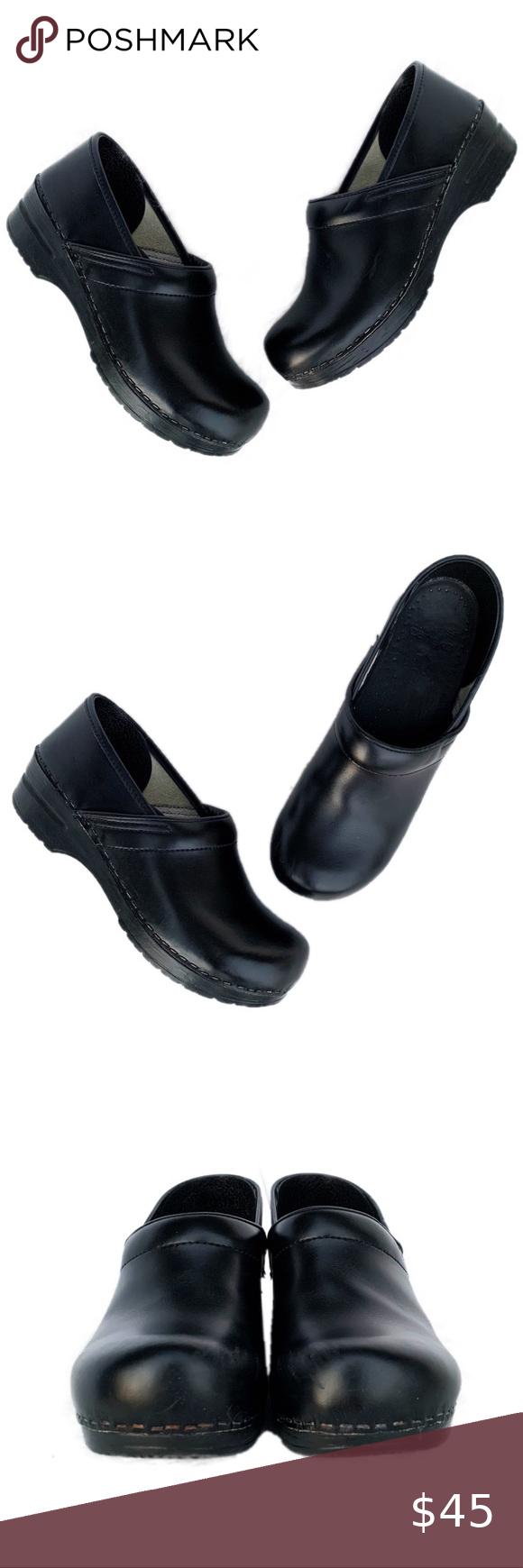 DANSKO Black Leather Non Slip Nurse