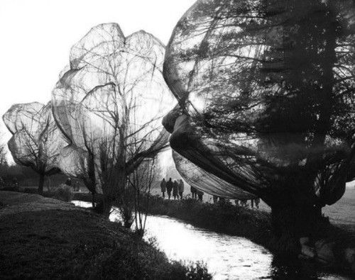 Wolfgang Volz - Christo and Jeanne-Claude, Wrapped Trees, Fondation Beyeler and Berower Park, Riehen, Switzerland 1997-1998 #Photography