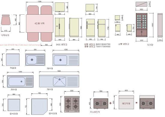 각종가구 치수모음 네이버 블로그 주택평면도 카페 인테리어 디자인 집 계획