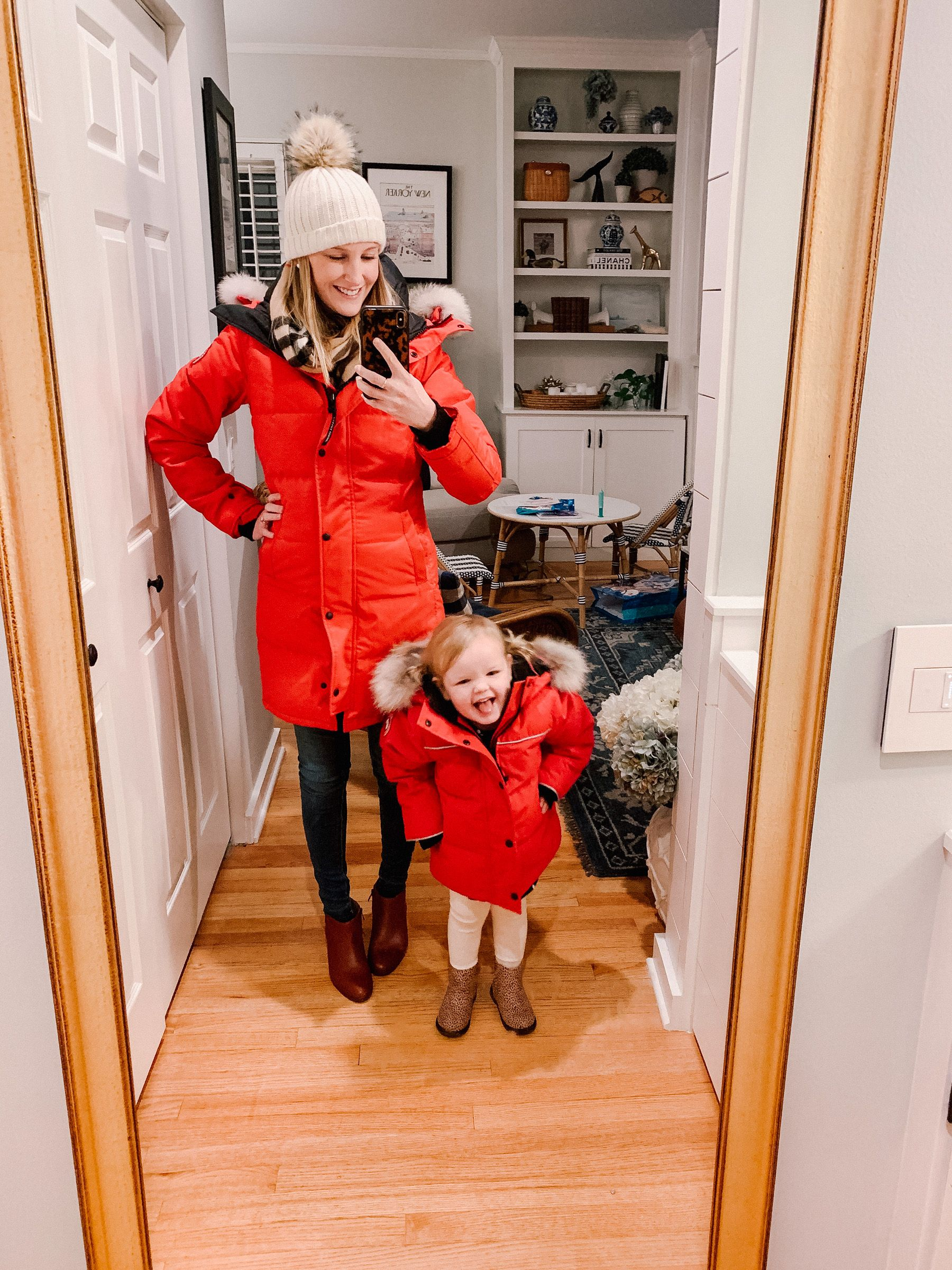 What I Wore 1 24 By Kelly Larkin Kelly In The City Red Parka Winter Outfits Warm Parka Outfit Winter