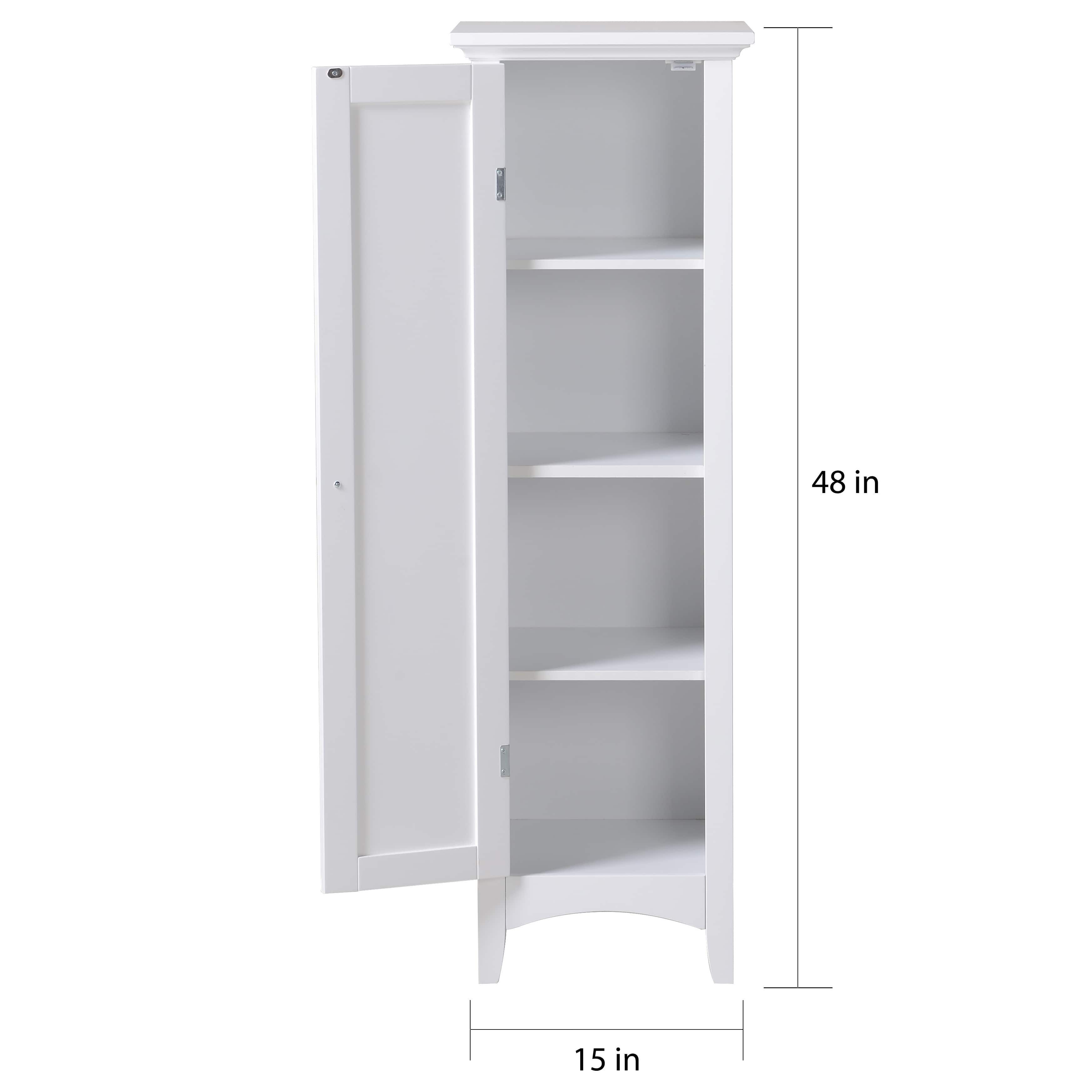 OS Home and Office White One Door Kitchen Storage Pantry | Overstock ...