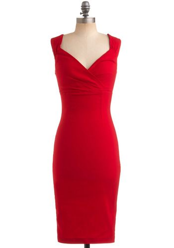 Red Sheath Dress