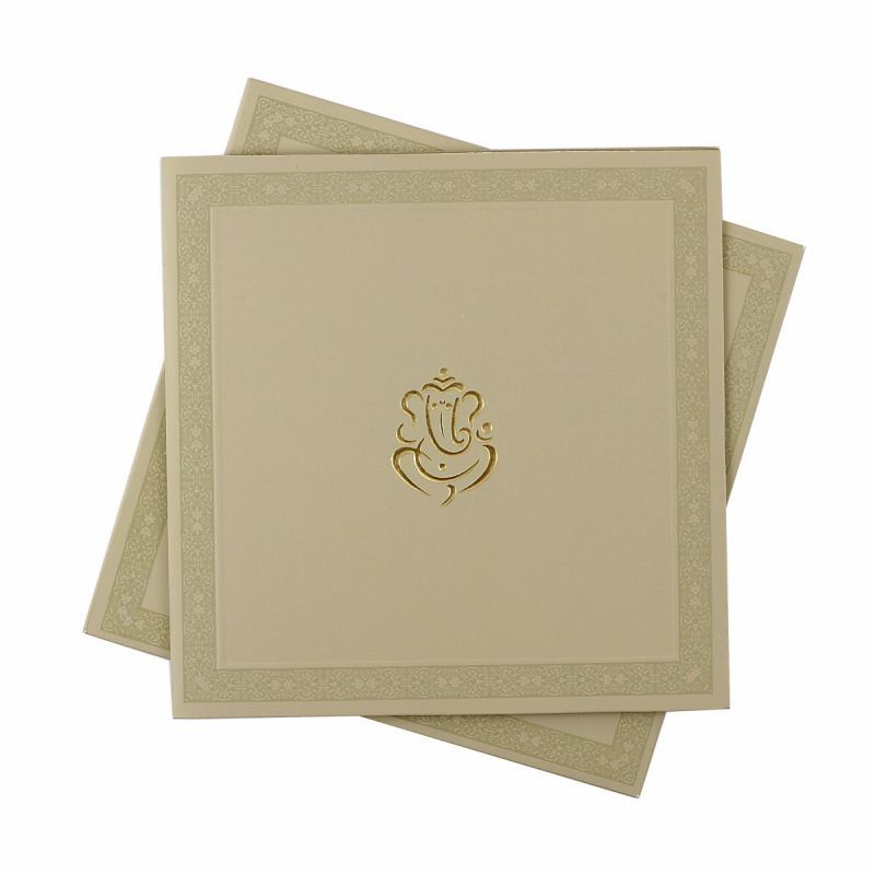 Simple And Elegant Hindu Wedding Card Hindu Wedding Cards
