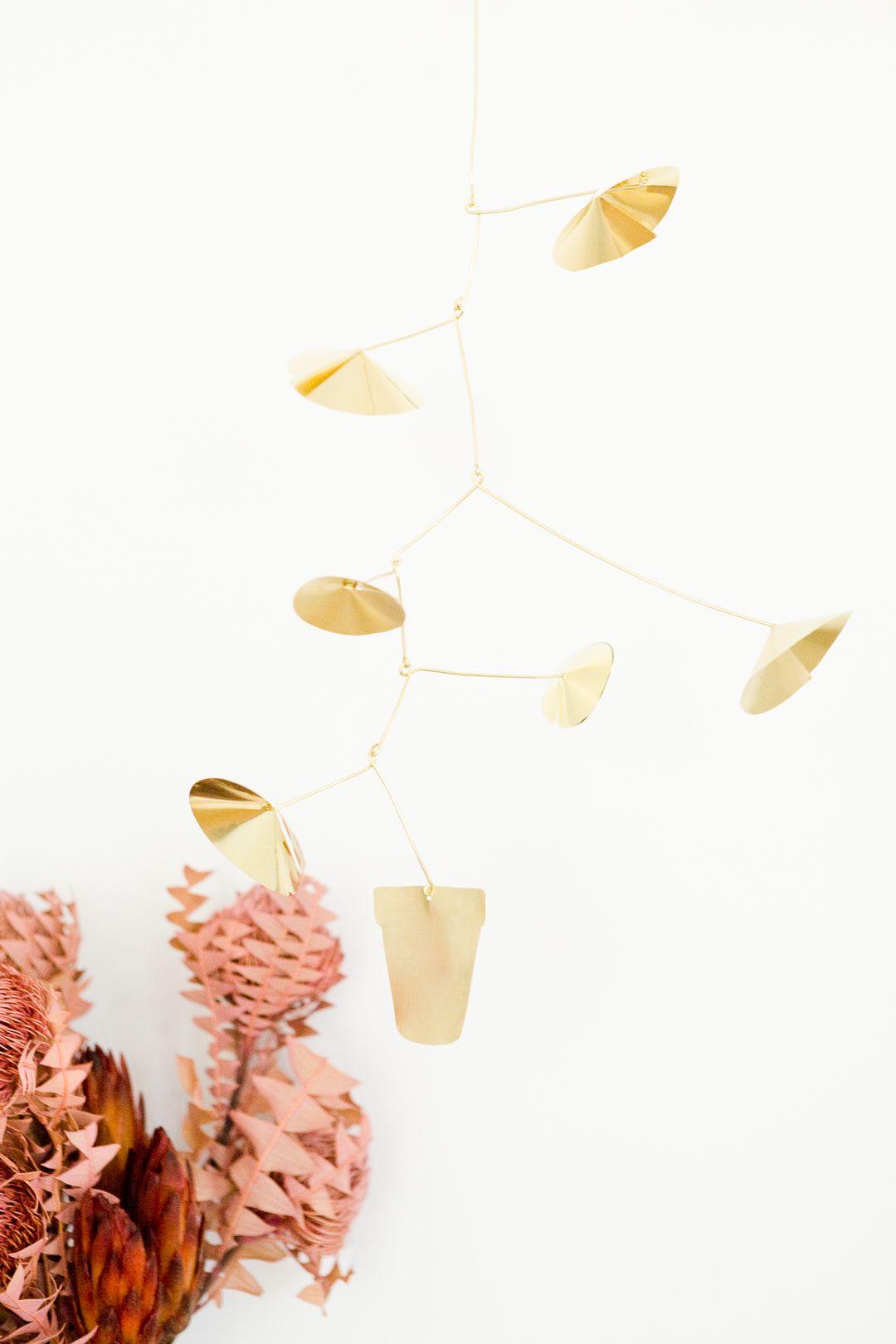 diy brass plant mobile | basteln und bauen | pinterest | template