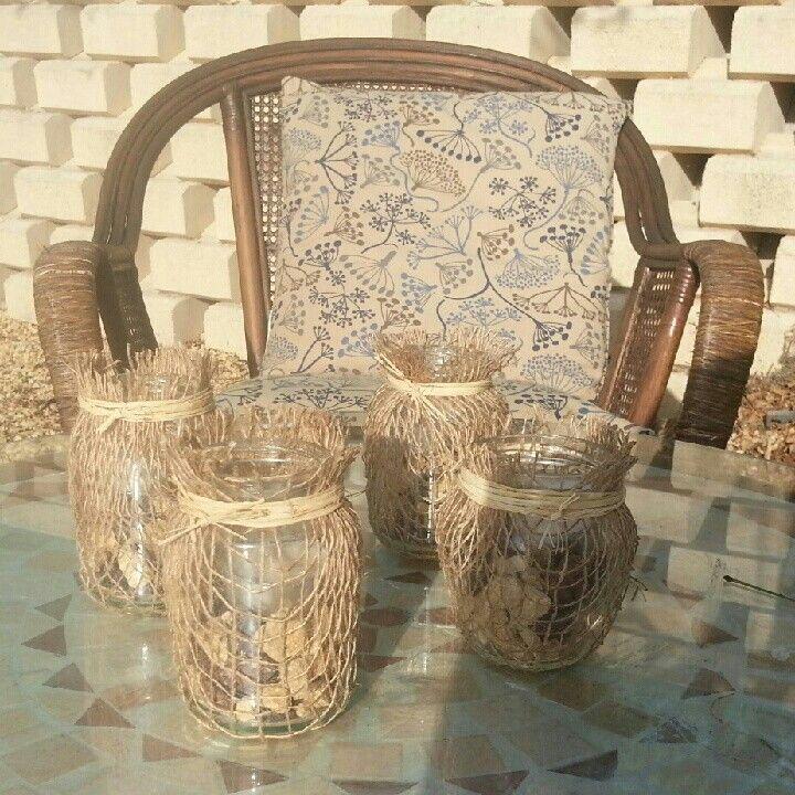 Botes de cristal decorados ideas manualidades for Tarros de cristal vintage