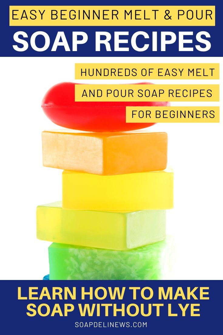 Easy melt and pour soap recipes for beginners how to make