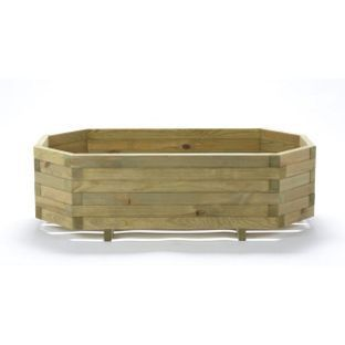 Wooden Trough Hex Planter From Homebasecouk Garden Wooden