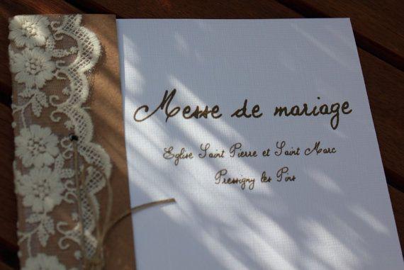 Couverture livret de messe gamme |mariage champêtre chic|