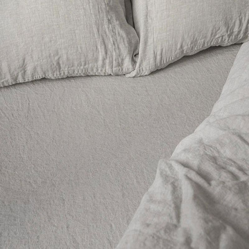 FLAX LINEN BED SHEET QUEEN SIZE BED FITTED SHEET WASHED PURE LINEN SHEETS  CHILDREN LUXURY BED