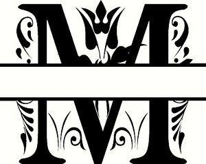 Letter M Monogram Clipart  Designs    Clip Art Free