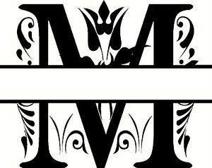 Letter M Monogram Clipart Designs Monogram Lettering Monogram