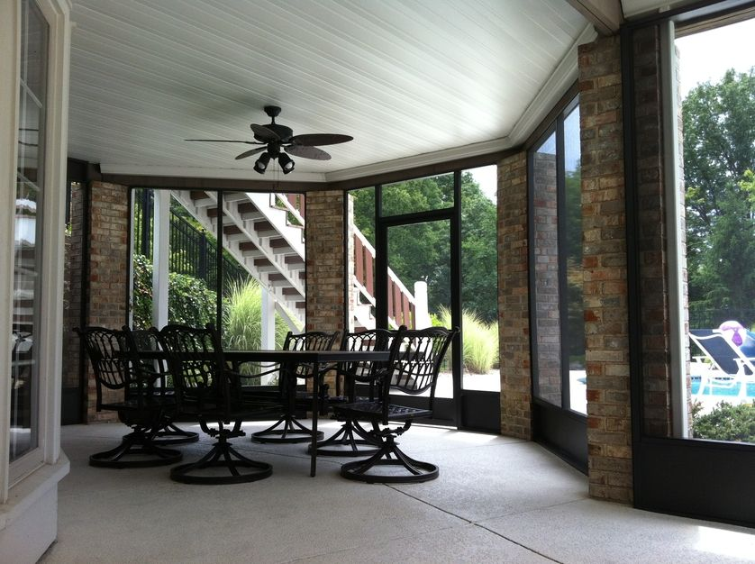See More Project Details For Screened In Porch Under Deck With