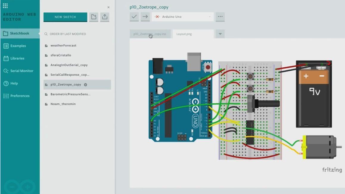 Online Projektplattform - Arduino Create