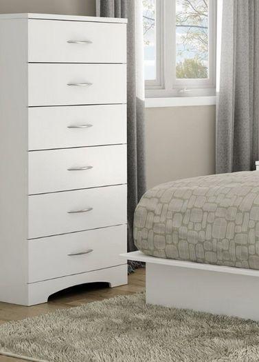 Tall White Dresser Chest 6 Drawers Girls Baby Nursery Bedroom Furniture Kids NEW | Bedroom ...