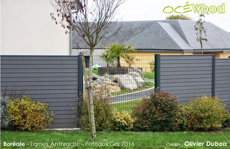 Océwood® - Clôture de jardin en composite Anthracite Boréale