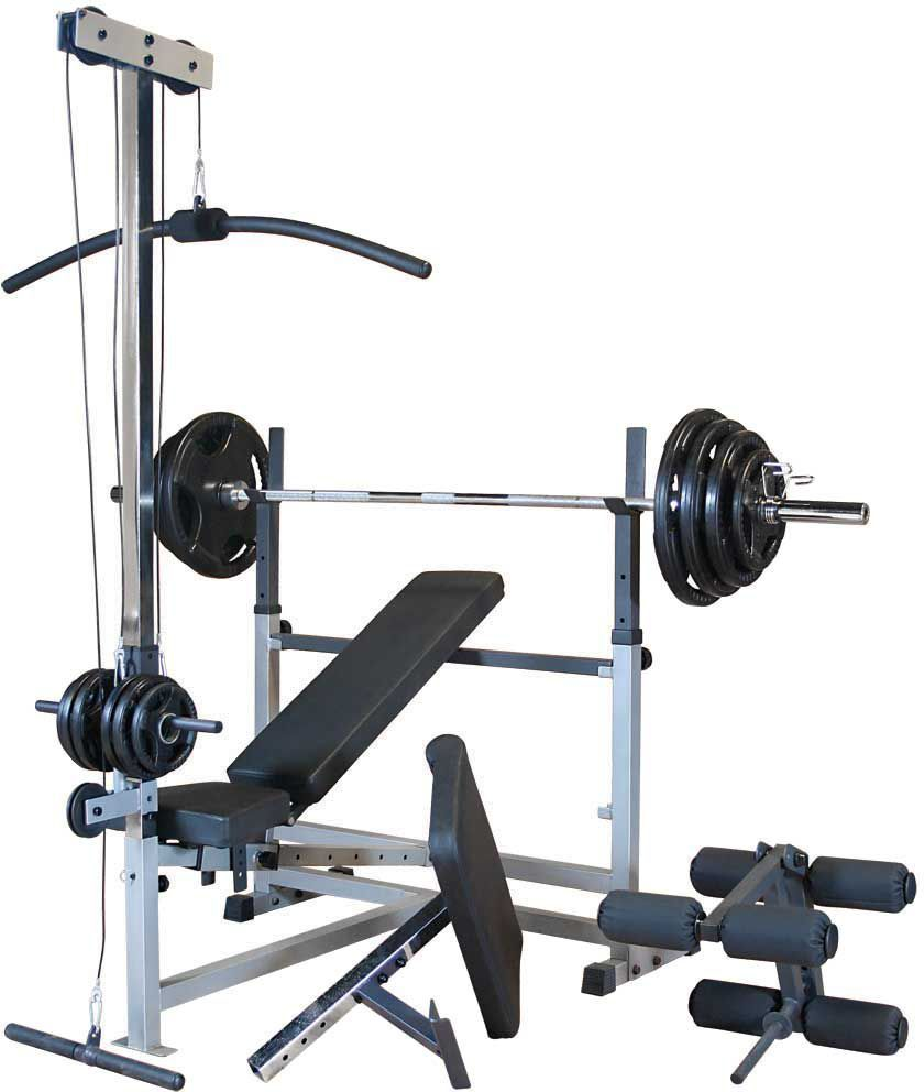 Body Solid Powercenter Bench And 300 Lb Weight Set Equipo De Gimnasio En Casa Equipos De Gimnasia Maquinas De Gym