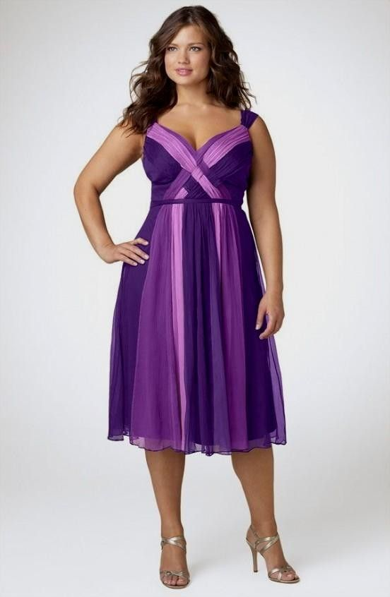 Purple Bridesmaid Dresses Plus Size