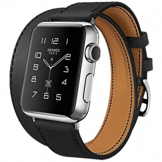 Double Tour Genuine Leather Apple Watch Band- Multiple