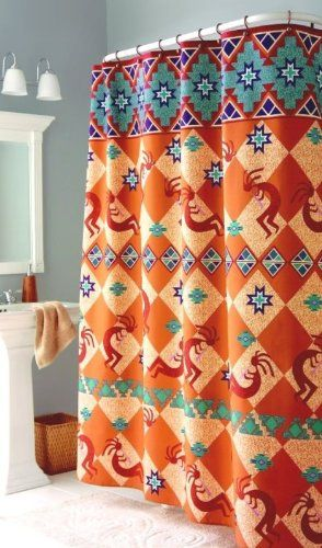 Kokopelli Southwest Indian Bath Fabric Shower Curtain Home Trends Amazon Dp B001VSJTVG Refcm Sw R Pi BZQgub011W5JV
