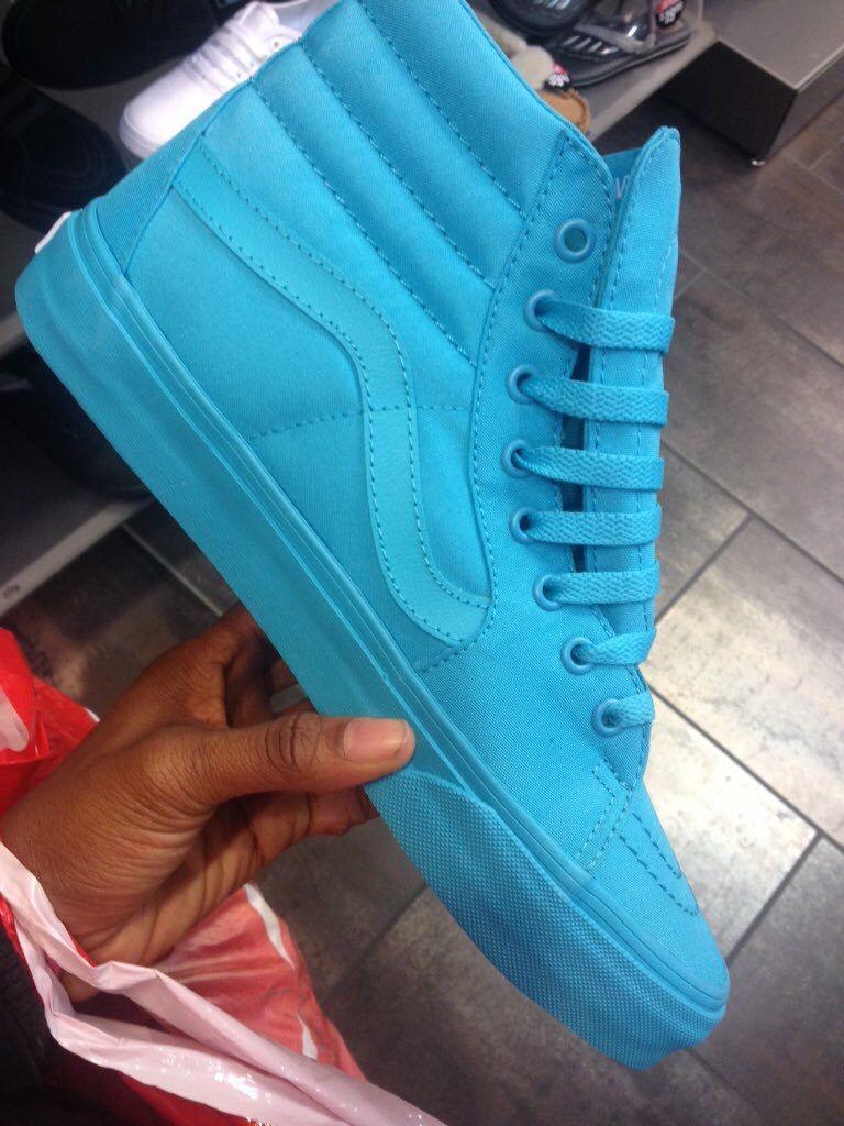 Blue High Top Vans Clothes In 2019 Shoes Vans Shoes