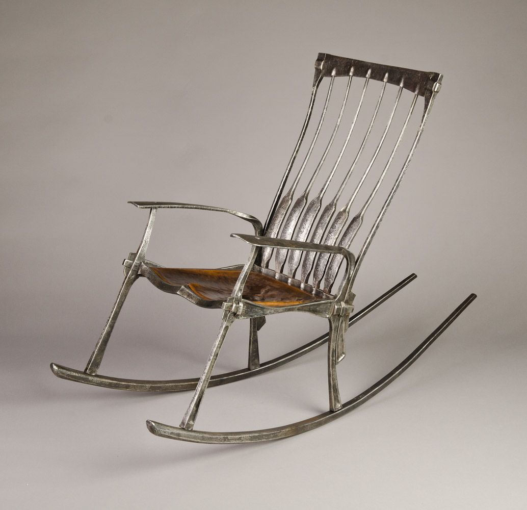 Rocking Chair Wrought Iron Salvaged From Old California Gold