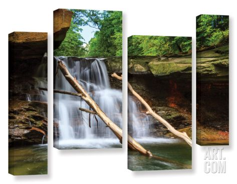 Brecksville Falls, 4 Piece Gallery-Wrapped Canvas Staggered Set Canvas Art Set by Cody York at Art.com