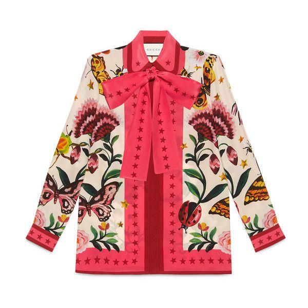 64ebfd9d3b552 Gucci Garden Exclusive Silk Shirt ( 1