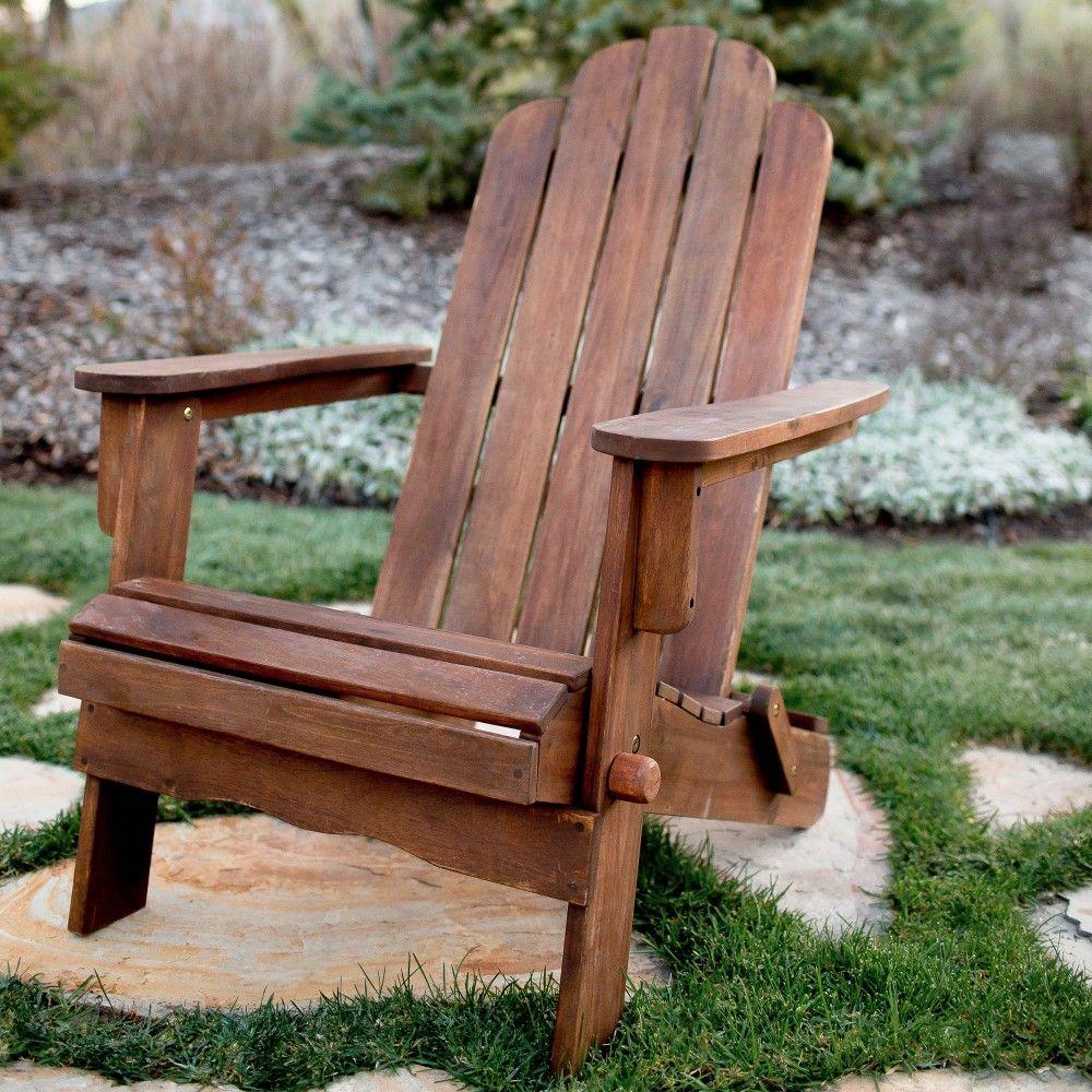 orange folding adirondack chair