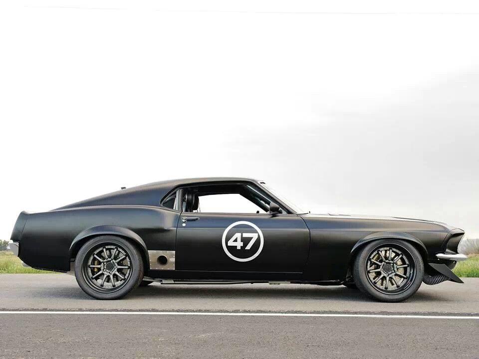 1969 mustang side view