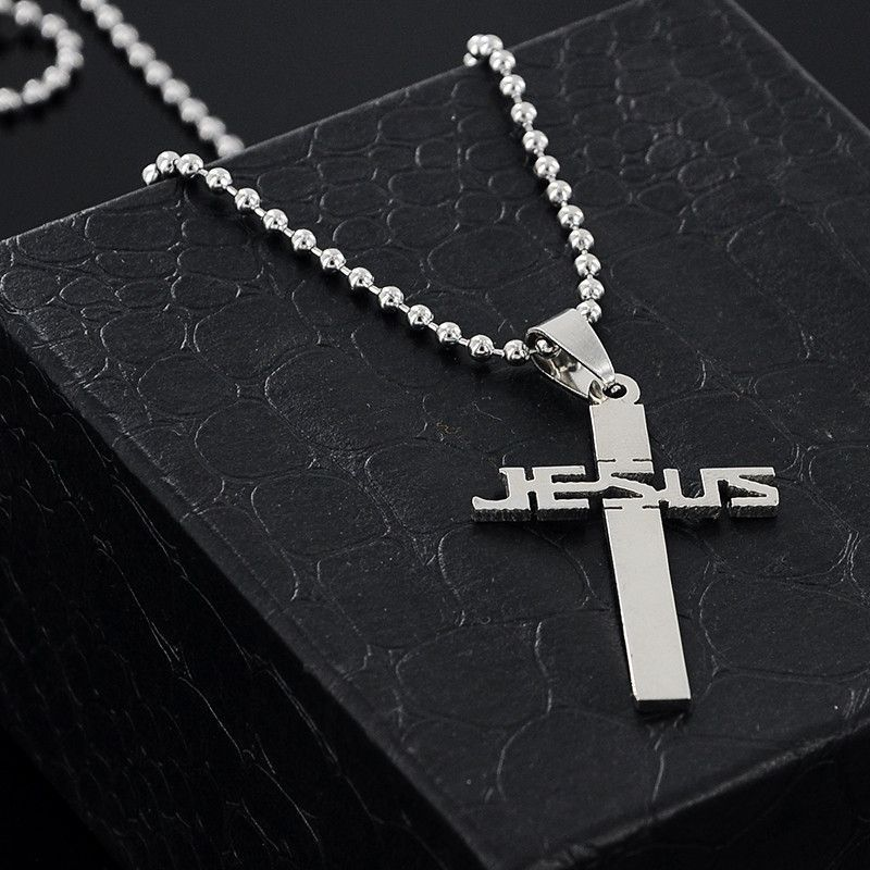 New fashion jesus cross pendant necklaces bead chain for men women new fashion jesus cross pendant necklaces bead chain for men women necklace jewelry x 897 mozeypictures Gallery