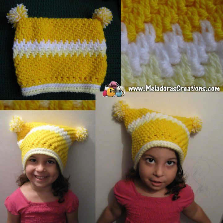 b48957ffa97 Childs Square Mesh Beanie - Free Crochet Pattern