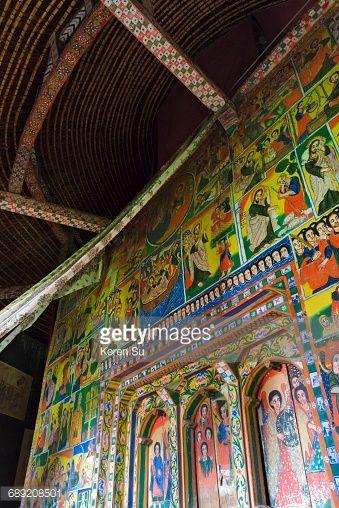 Mural inside Ura Kidane Mehret Monastery