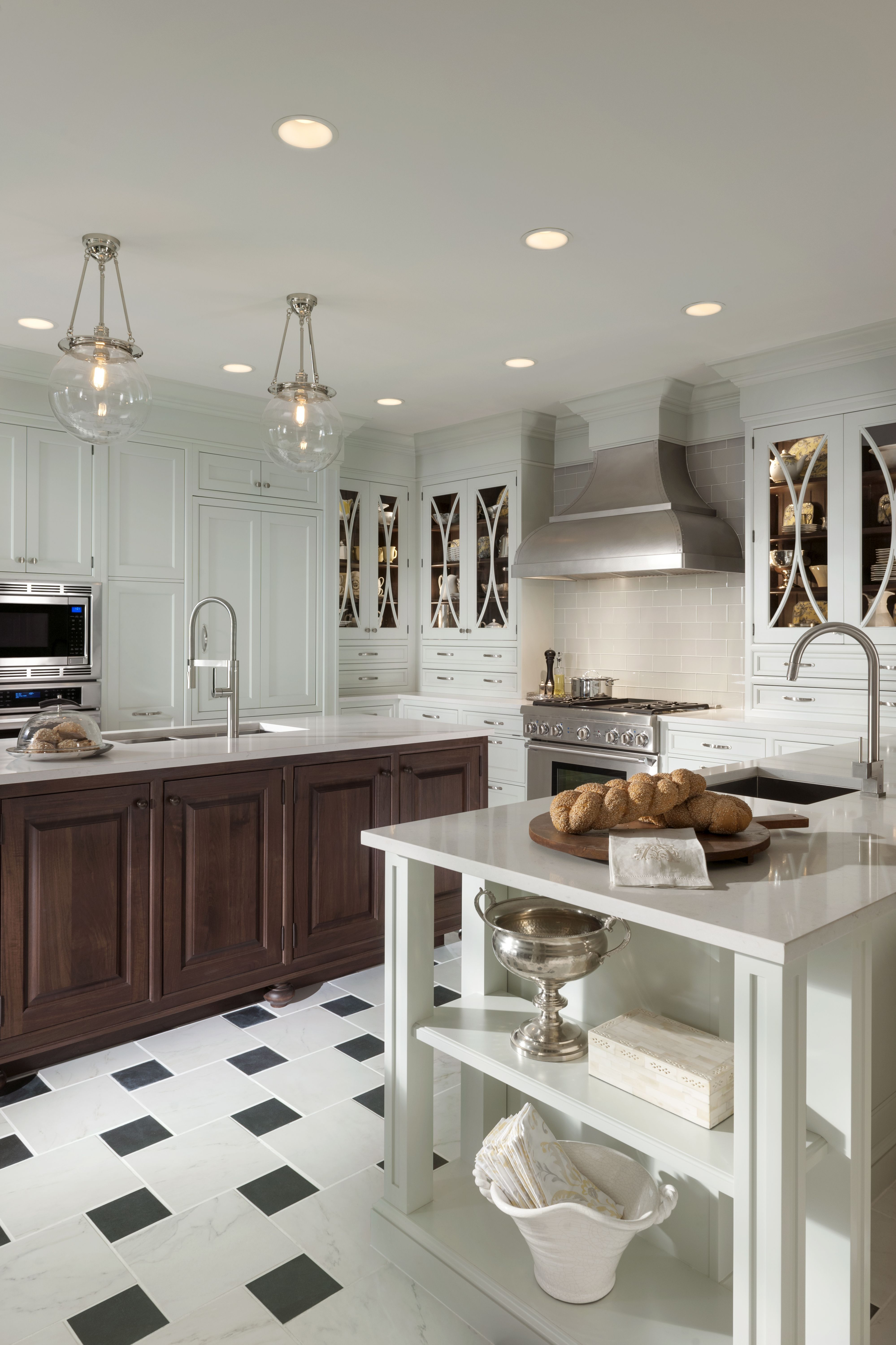Embassy Row Kitchen By Woodmode Shown In Putty And Classic Walnut