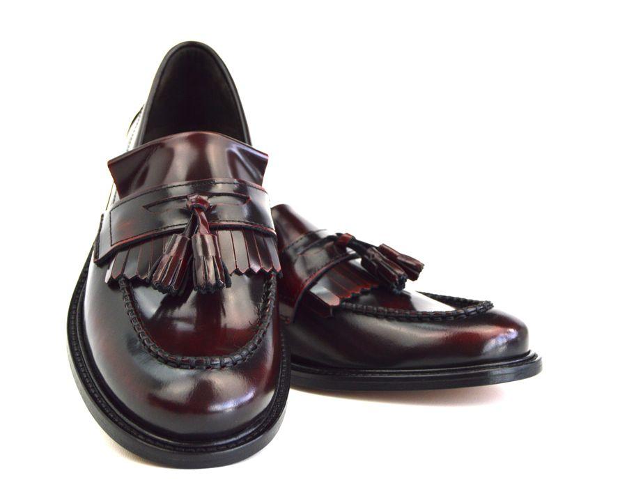 601c319c047bd Ladies Princes – Oxblood Tassel Loafers – Mod Ska Skinhead Style