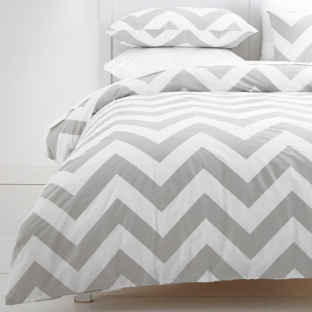Coby Quilt Cover Set Grey White Quilt Cover Sets