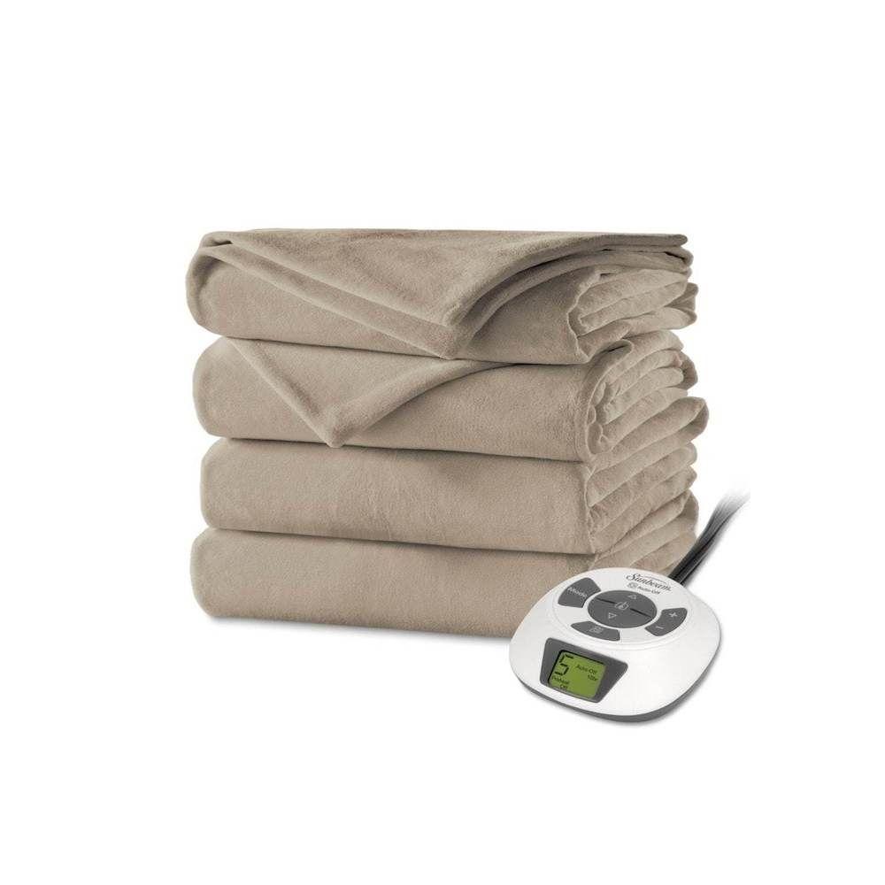 King Size Heated Blanket Velvet Mushroom Plush Electric Bedding