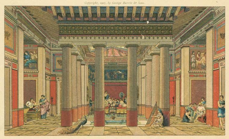 De reyes dioses y h roes las casas en la antigua grecia for Casas griegas antiguas