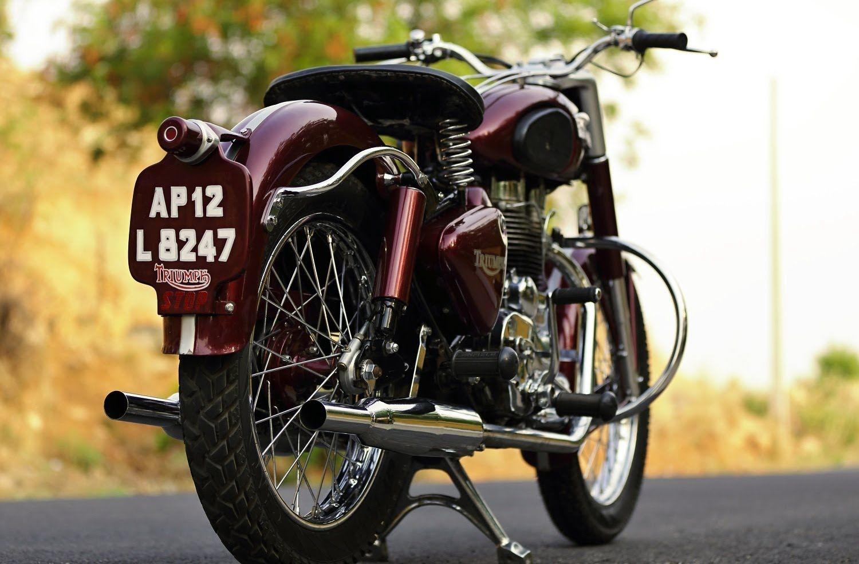 Enfield Triumph Double Silencer Vintage Look Custom Royal