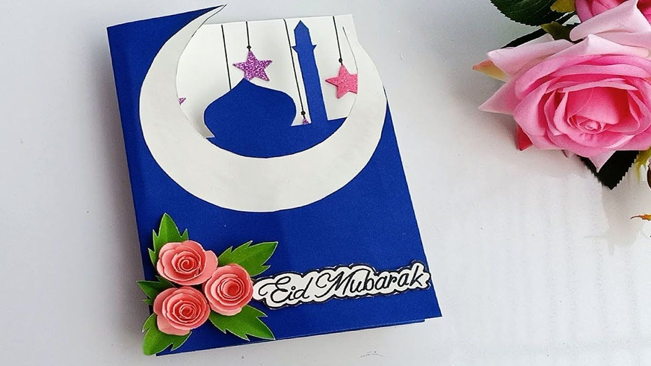 handmade greeting card for eid  diy beautiful popup eid