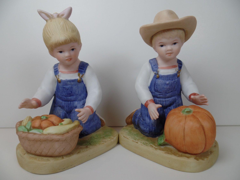 Home interior jesus figurines homco denim days harvest helpers figurine  homco denim days  denim